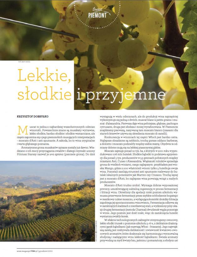 Wino Magazyn – december 2012 (Poland)