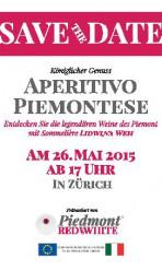 Aperitivo Piemontese – Zurigo, 26 Maggio 2015