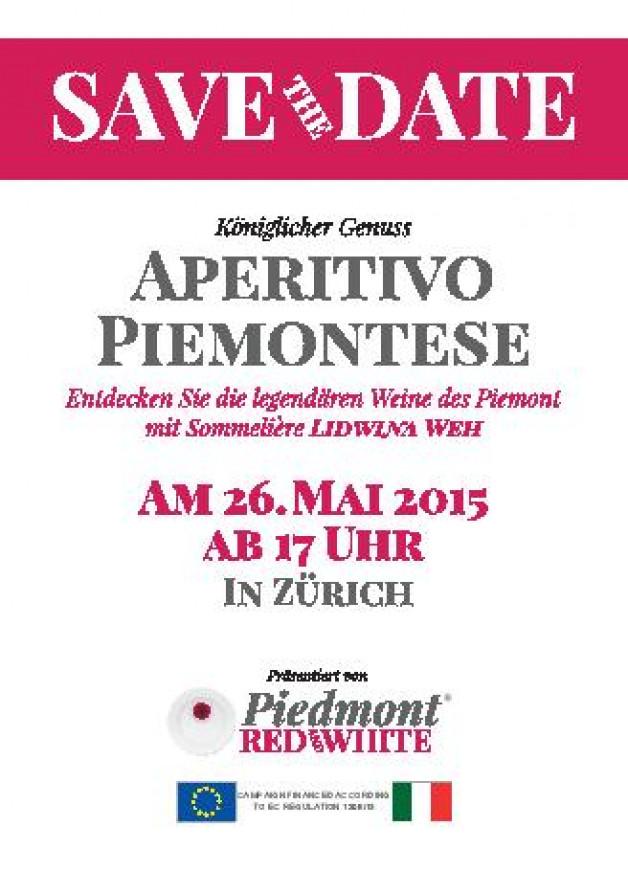 Aperitif Piedmontese – Zurich, 26 May 2015